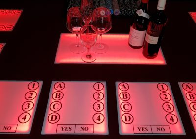 Wine Tasting Trivia Table