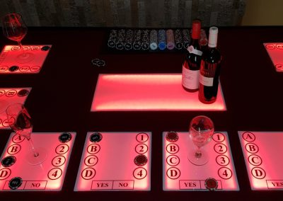 Wine Tasting Trivia Table(5)