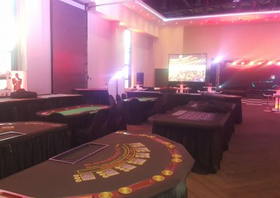 Year End Corporate Function - Gaming Tables
